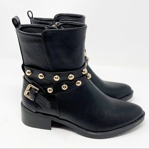 Catherine Malandrino Leather Moto Stud Booties 8